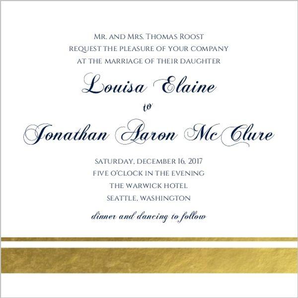 wedding invitation wording one set of parents hosting
