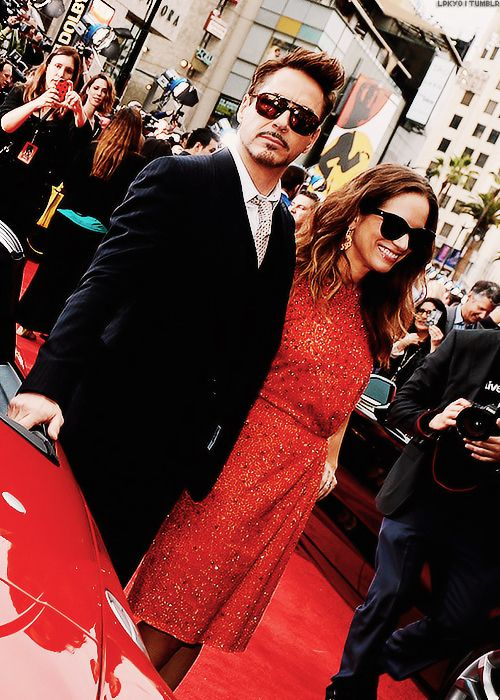 """Robert Downey Jr. and Susan Downey, """"Iron Man 3"""" premiere in Hollywood, 2013."""