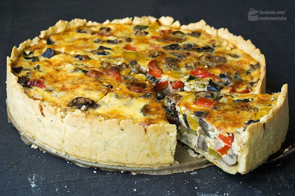Photo of Ratatouille-Quiche (Gemüsekuchen) – Madame Cuisine