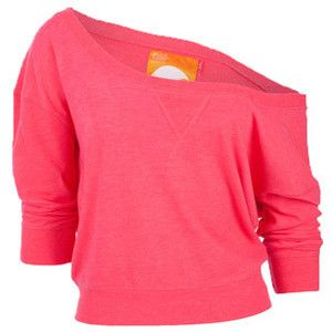 Womens Soul Cal Slouchy Crew Neck Top
