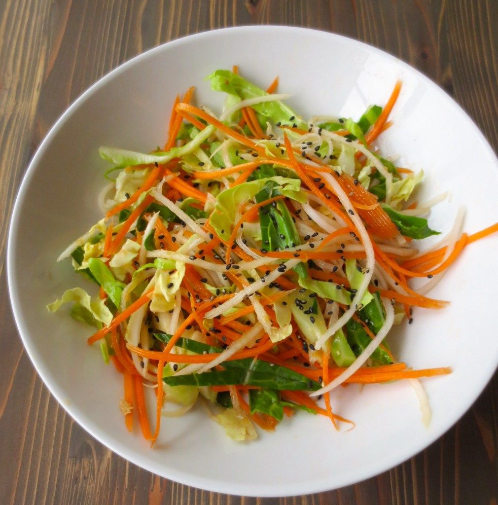 Shredded Cabbage and Ginger Salad   Recipe   Food ...