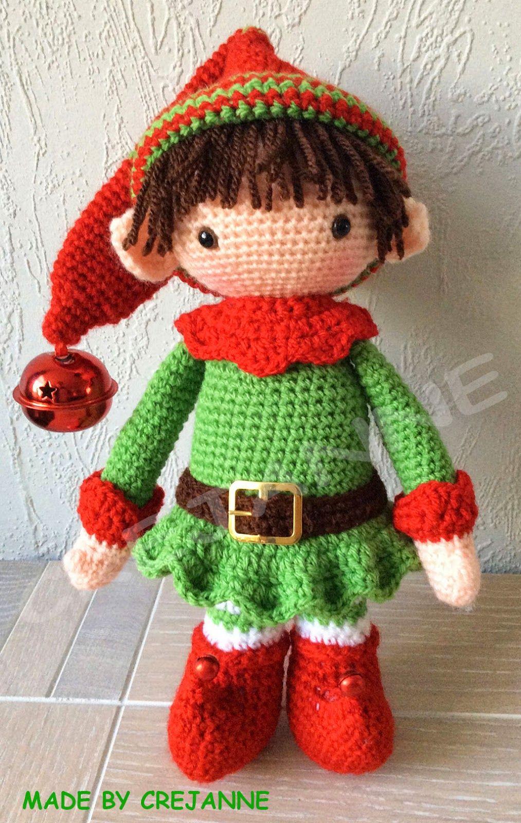 cute elf! | crochet | Pinterest | Puppen, Gehäkelte puppen und Stern ...