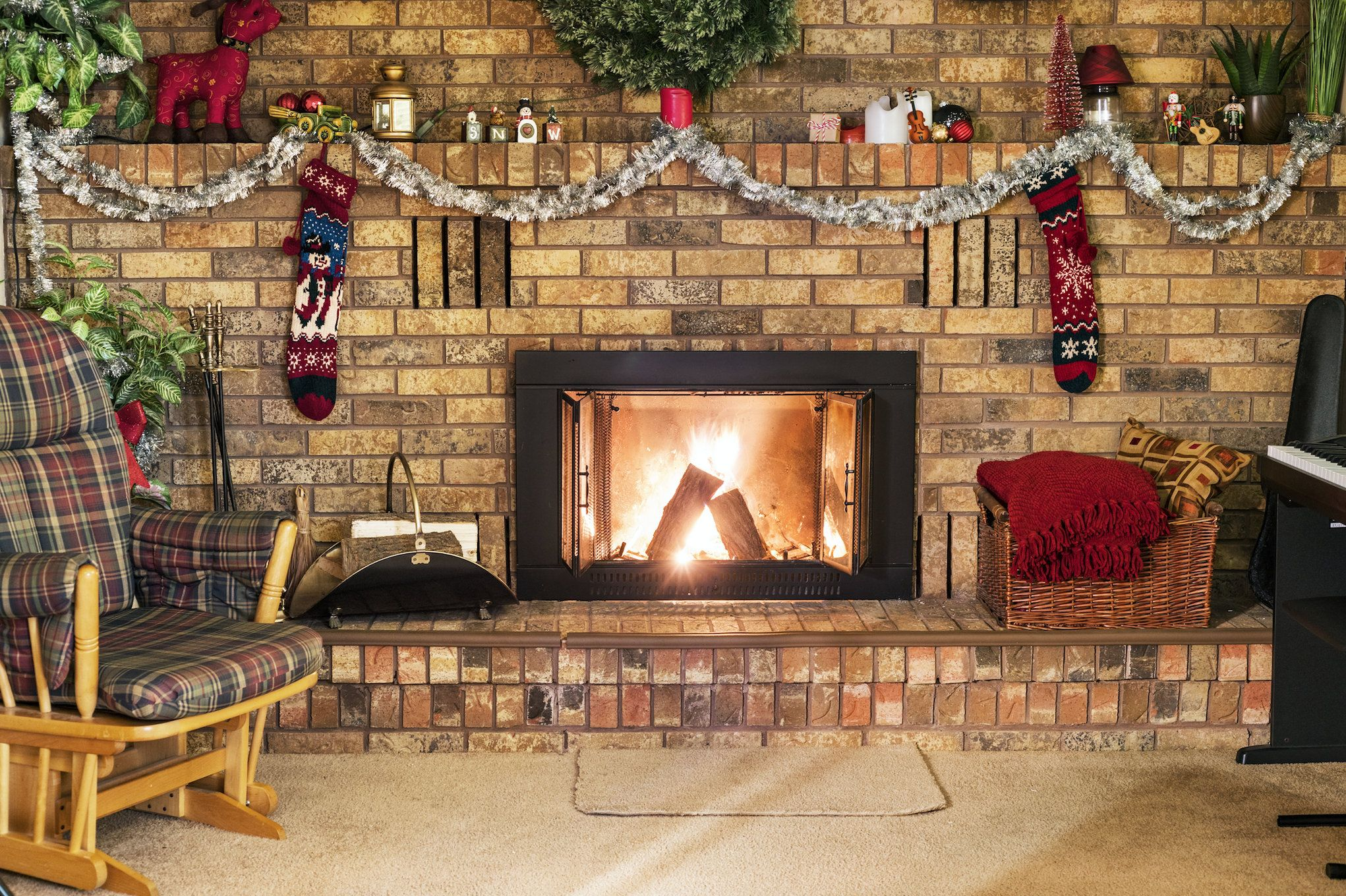 Christmas Brick Fireplace With Stockings By Backdropdesigns On Etsy