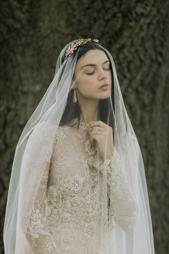 ANNA | Chantilly Drop Veil