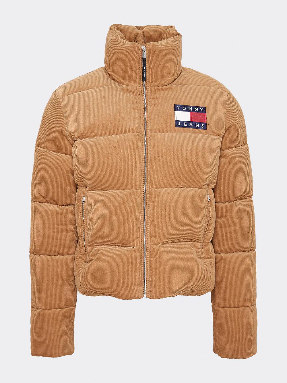 Corduroy Puffer Jacket | TOBACCO BROWN | Tommy Hilfiger ...