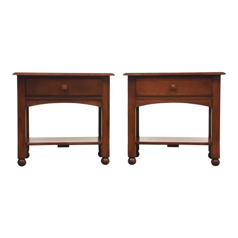 Ethan Allen American Dimensions Nightstands A Pair Mid Century