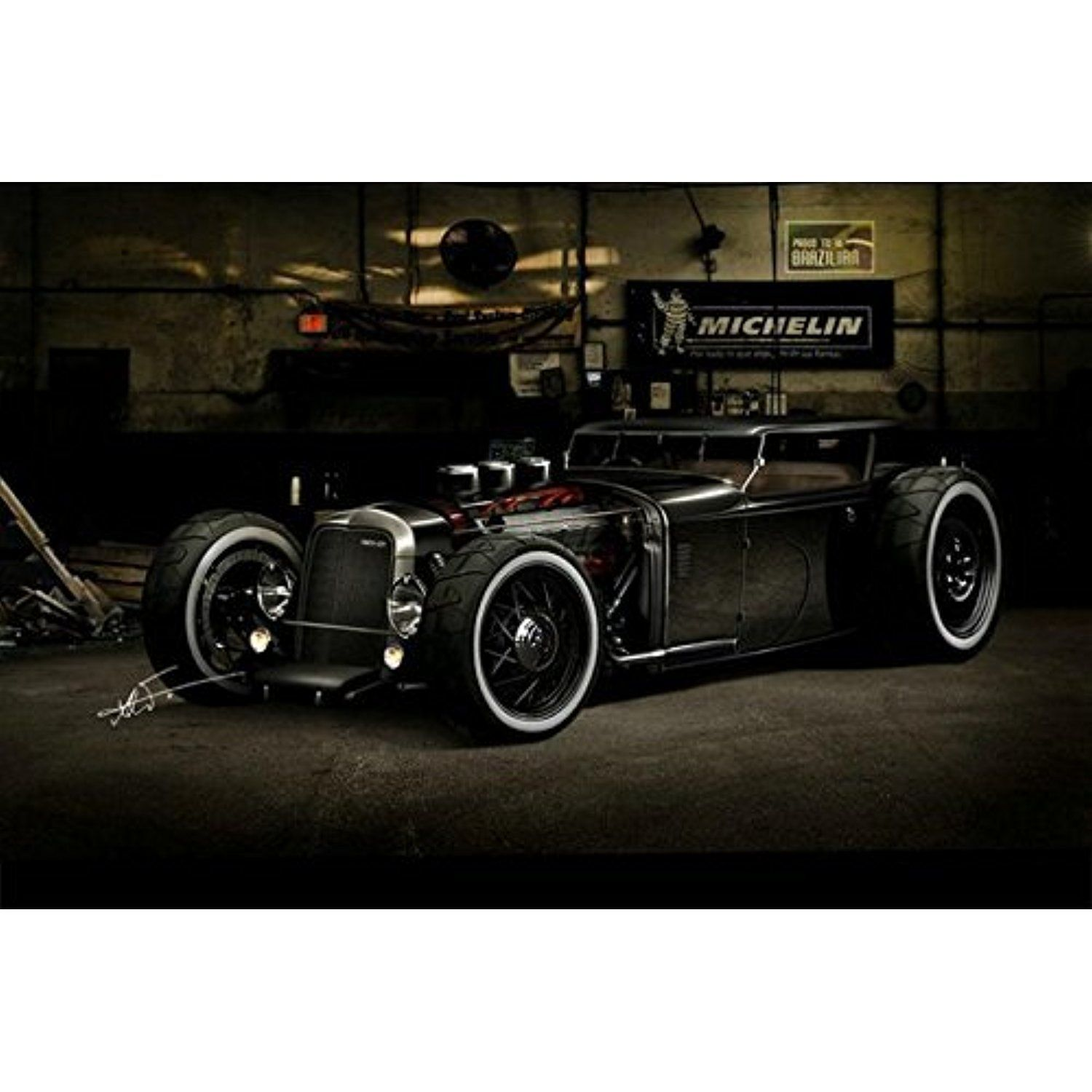 Lawrence Painting Hot Rod Car Wall Posters Hd Big Modern Home Living