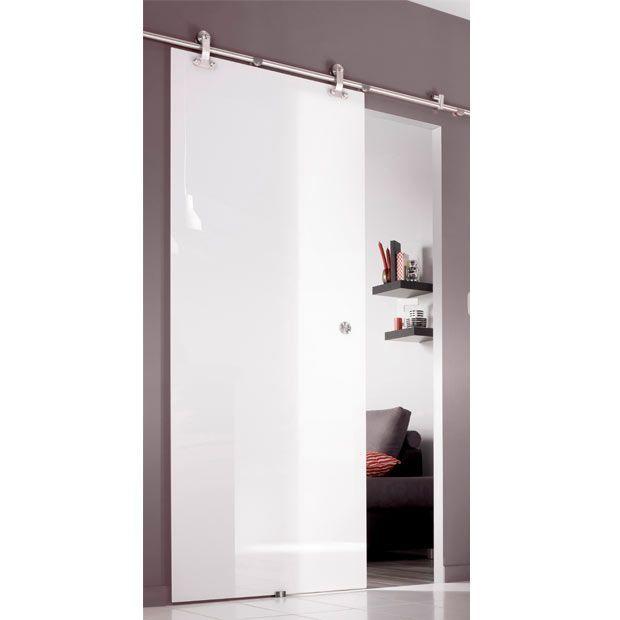 Systeme Coulissant Manhattan En Applique Pour Porte En Verre Lapeyre Basement Remodel Diy Basement Remodeling Tall Cabinet Storage