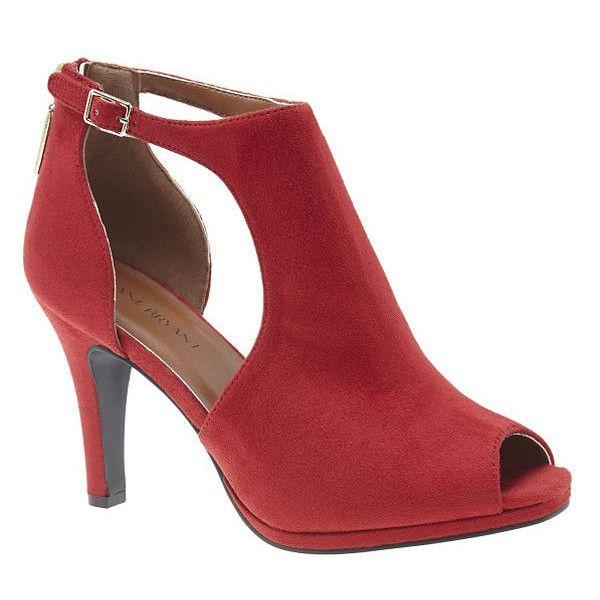 Lane Bryant Peep toe cut out heel, Women's, Size: 11 W, Red (93 ...