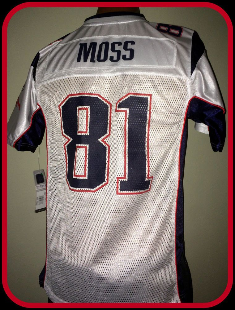 2d366149ea846 NEW ENGLAND PATRIOTS RANDY MOSS REEBOK REPLICA JERSEY YOUTH LARGE FREE  SHIPPING #Reebok #NewEnglandPatriots