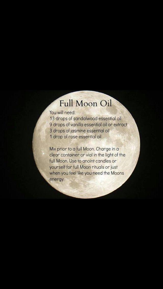 Full Moon Oil #fullmoonbathritual Full Moon Oil #fullmoonbathritual
