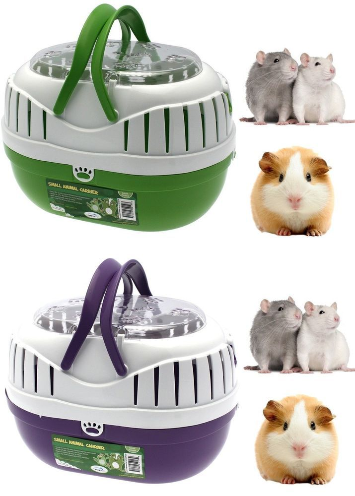 Details About Small Animal Plastic Transport Carrier Travel Cage