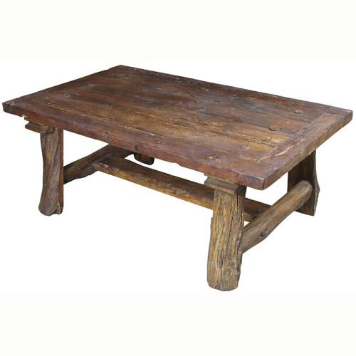 Indeed Decor's Old Wood Rustic Coffee Table Exemplifies