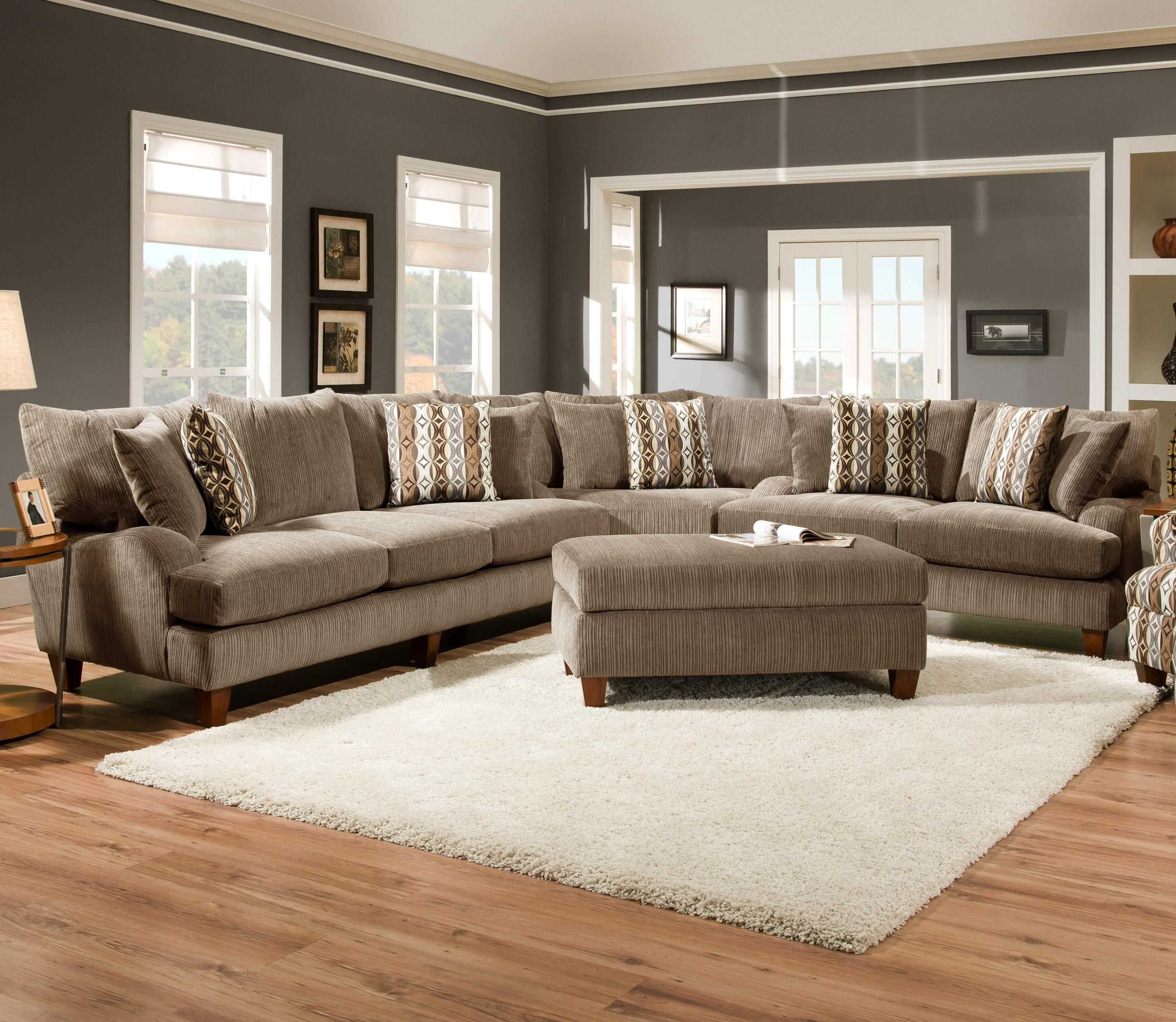 17BO Boggle Platinum Sectional by Corinthian home decor