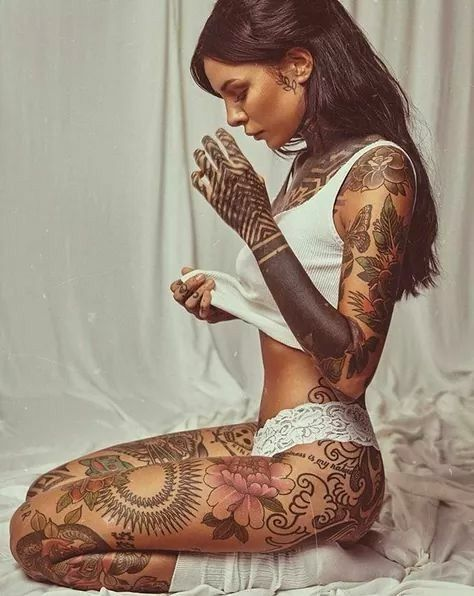 Bein Tattoo Ideen für -  Bein Tattoo Ideen für -