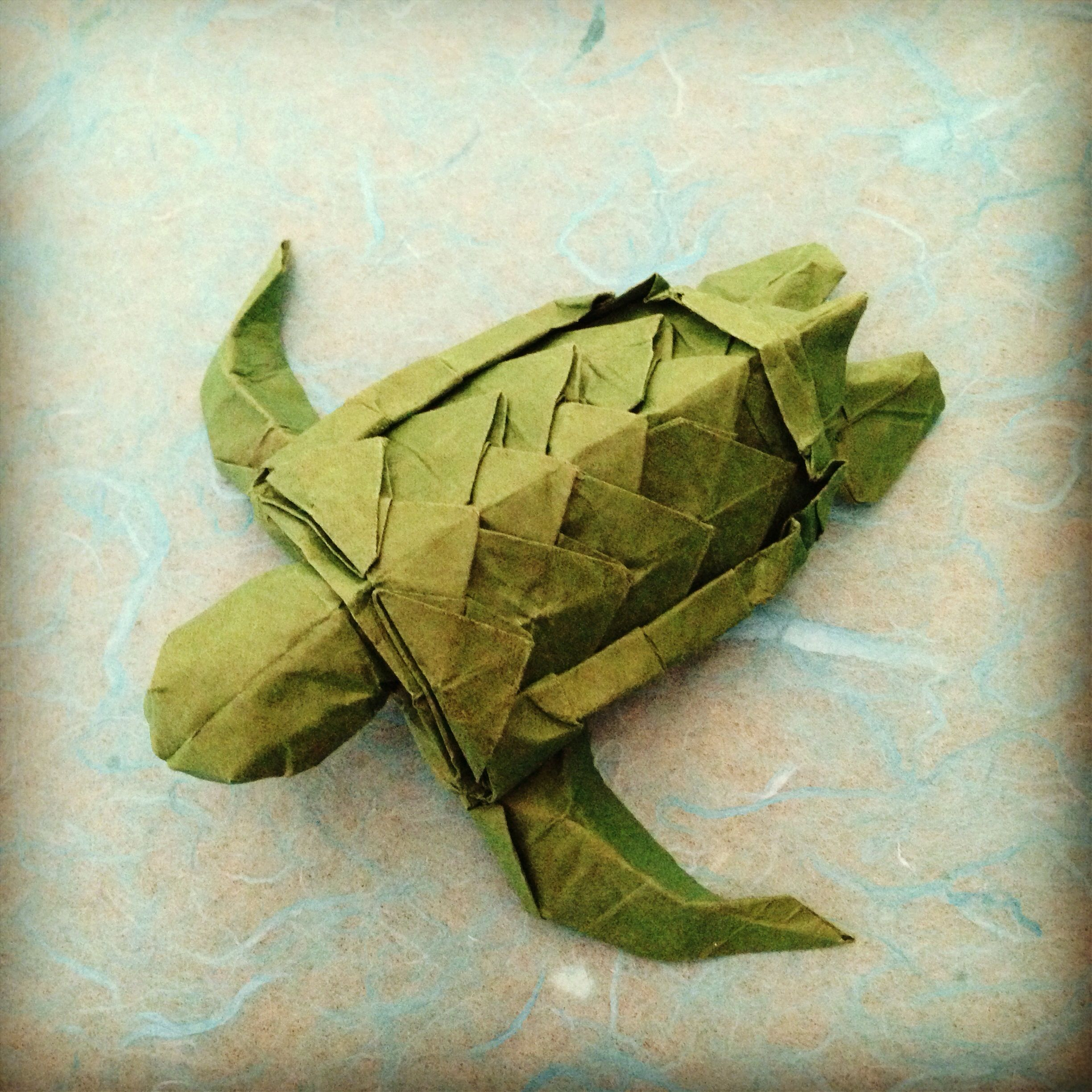 Origami sea turtle designed and folded by me origami mobile origami sea turtle designed and folded by me jeuxipadfo Image collections