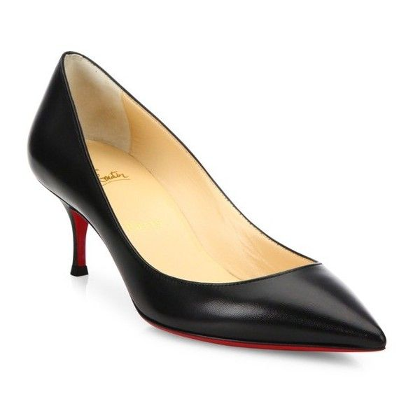 bf4d5b63f036 ... where to buy christian louboutin pigalle follies 55 leather pumps 675  liked on polyvore featuring shoes