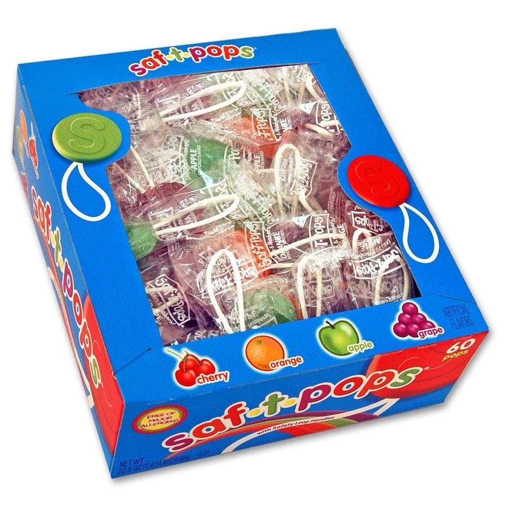 SafTPops 60 ct box Saf t pops, Unique lollipops