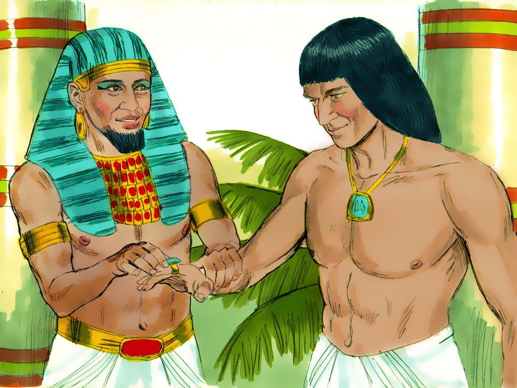 Then Pharaoh Removed His Signet Ring From His Hand And