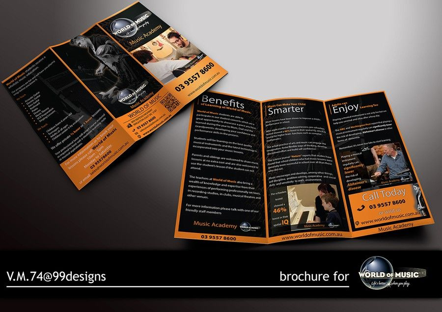 Help World Of Music With A New Brochure Design By VM