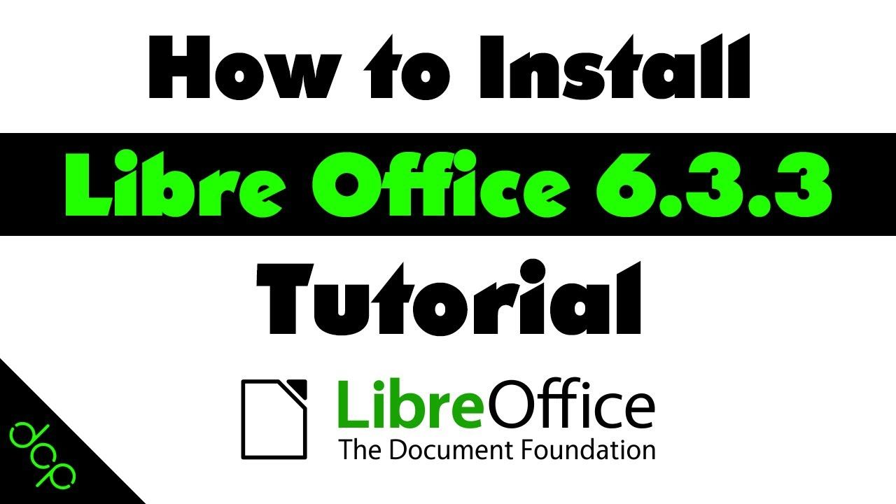 How to install libre office 633 free software