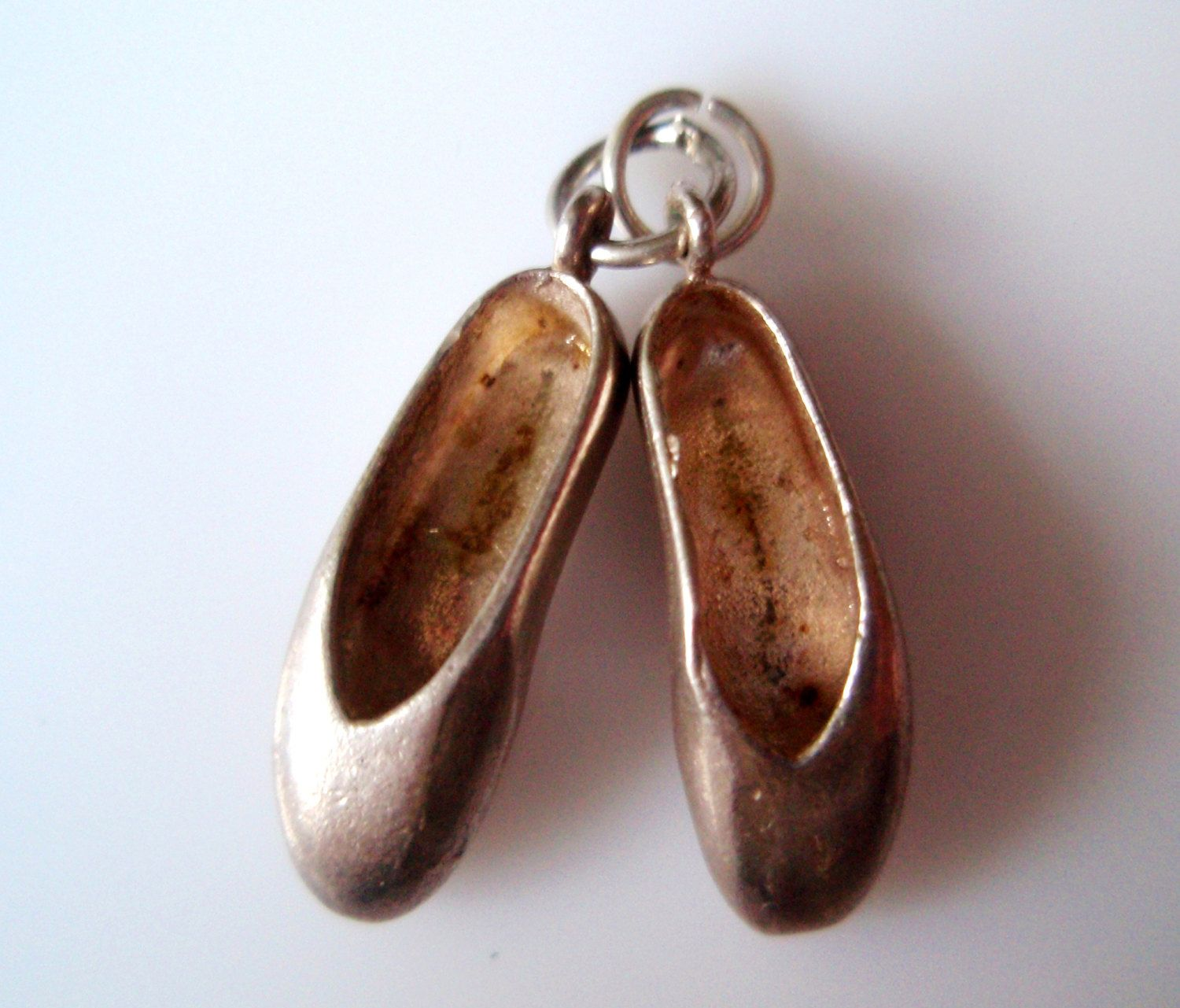 Sterling Silver Ballet Slippers Charm or Pendant