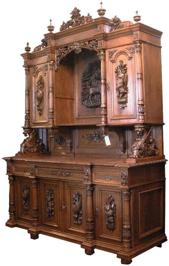 Incredible Carved Oak Huntboard Furniture Pinterest