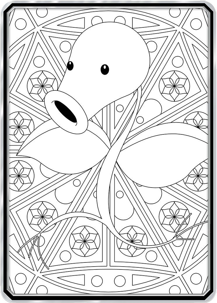 Color Me Bellsprout Custom Pokemon Coloring Card Pokemon