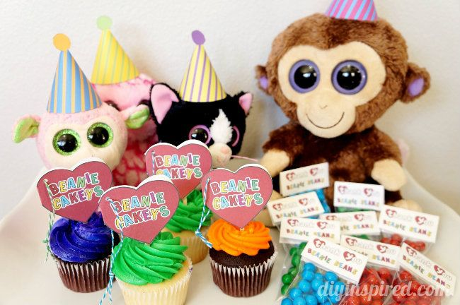 Beanie Baby Party Ideas with Printables  Baby party Beanie