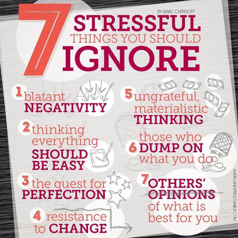 7 Stressful Things U Should Ignore Stress Catchy Phrases
