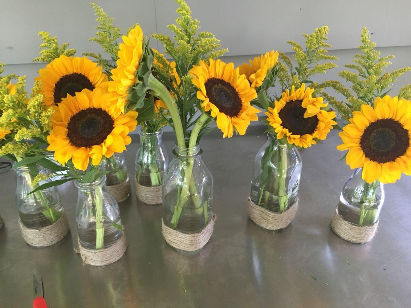 Fesselnd Deko Mit Sonnenblumen   Bilder Und Fotos   Sunflowers   Pinterest    Sunflowers, Sunflower Arrangements And Burlap