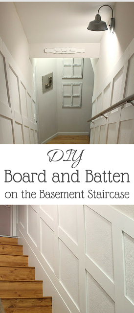 Lighting Basement Washroom Stairs: Simply Beautiful By Angela: DIY Board And Batten On The