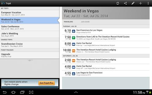 TripIt Travel Organizer – Free - screenshot thumbnail