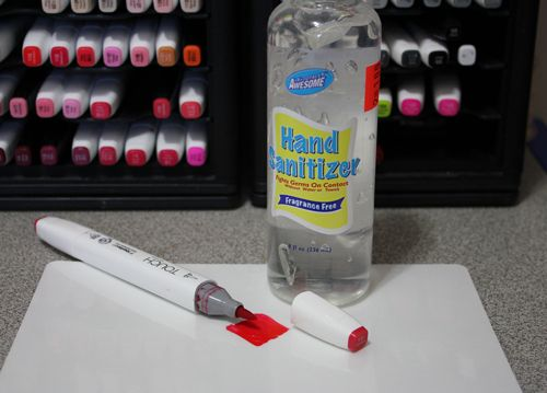 Touch Twin Markers Hand Sanitizer Copic Markers Tutorial Hand
