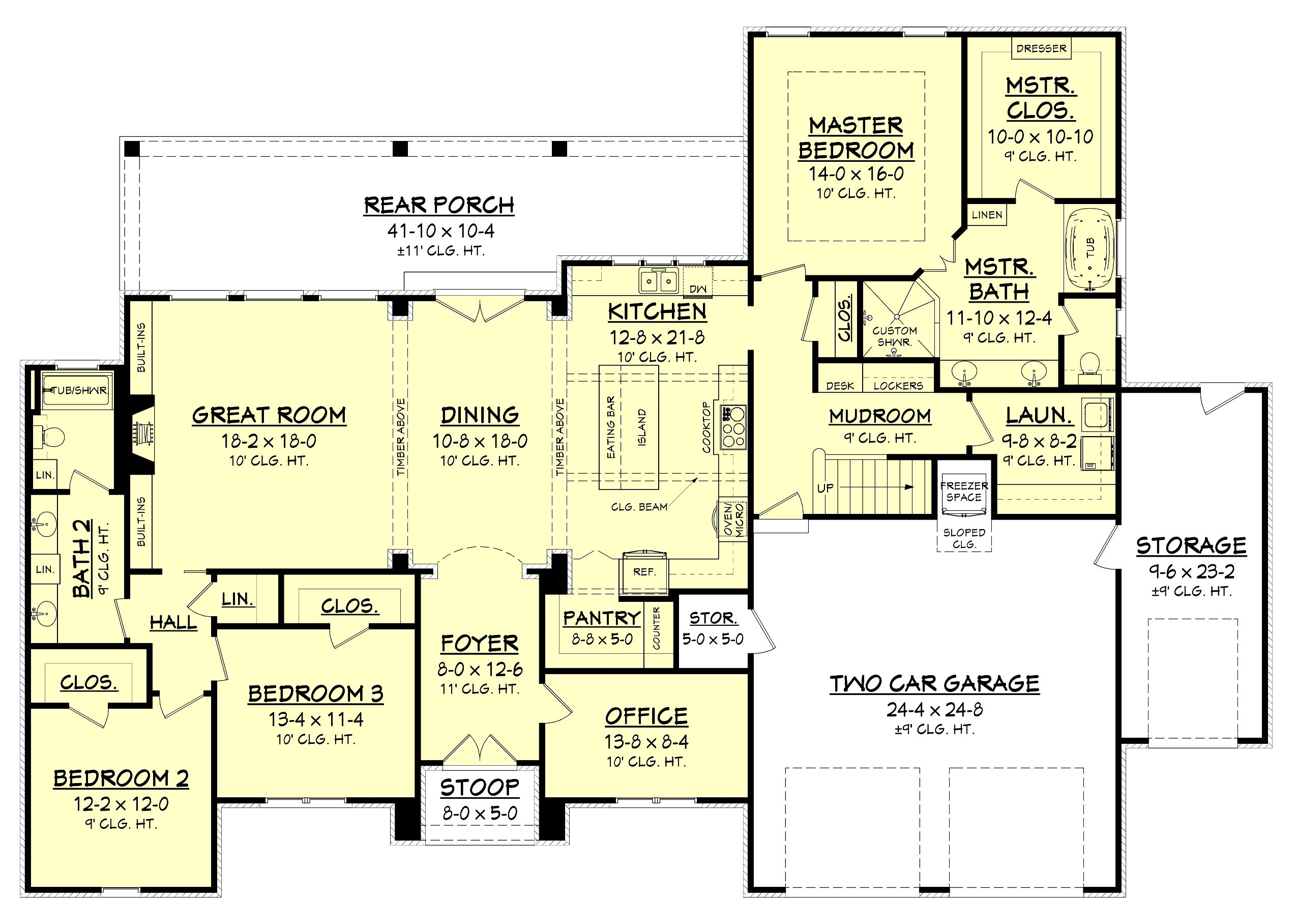 2 Bedroom Open Concept Floor Plans Cypress Pointe House Plan House Plan Pinterest House