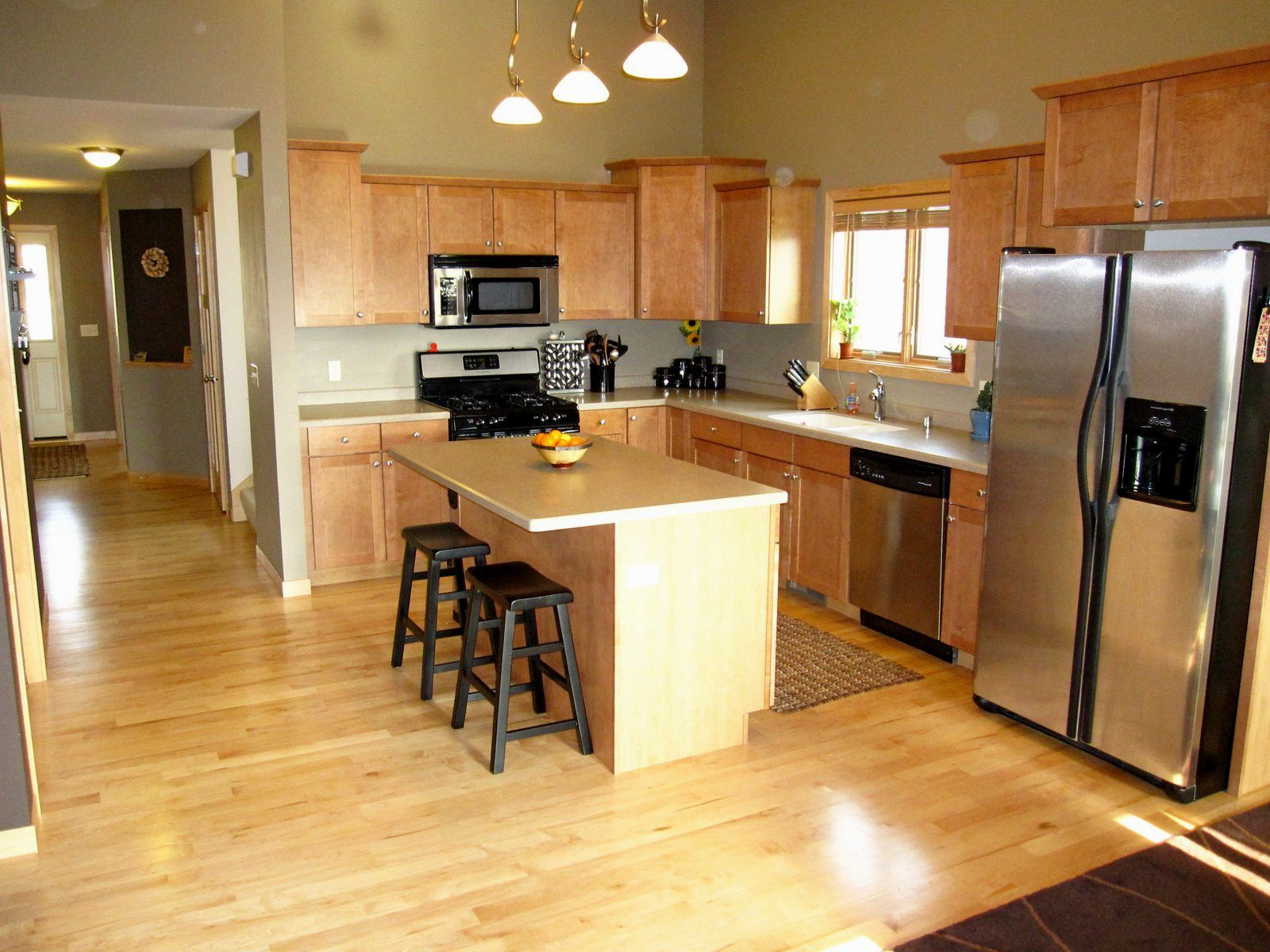Image Result For Maple Cabinets Flooring Maple Cabinets Kitchen Design Wood Floor Kitchen