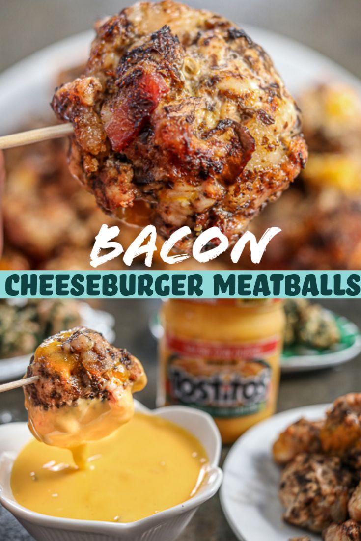 Bacon Cheeseburger Meatballs #baconcheeseburgerdip