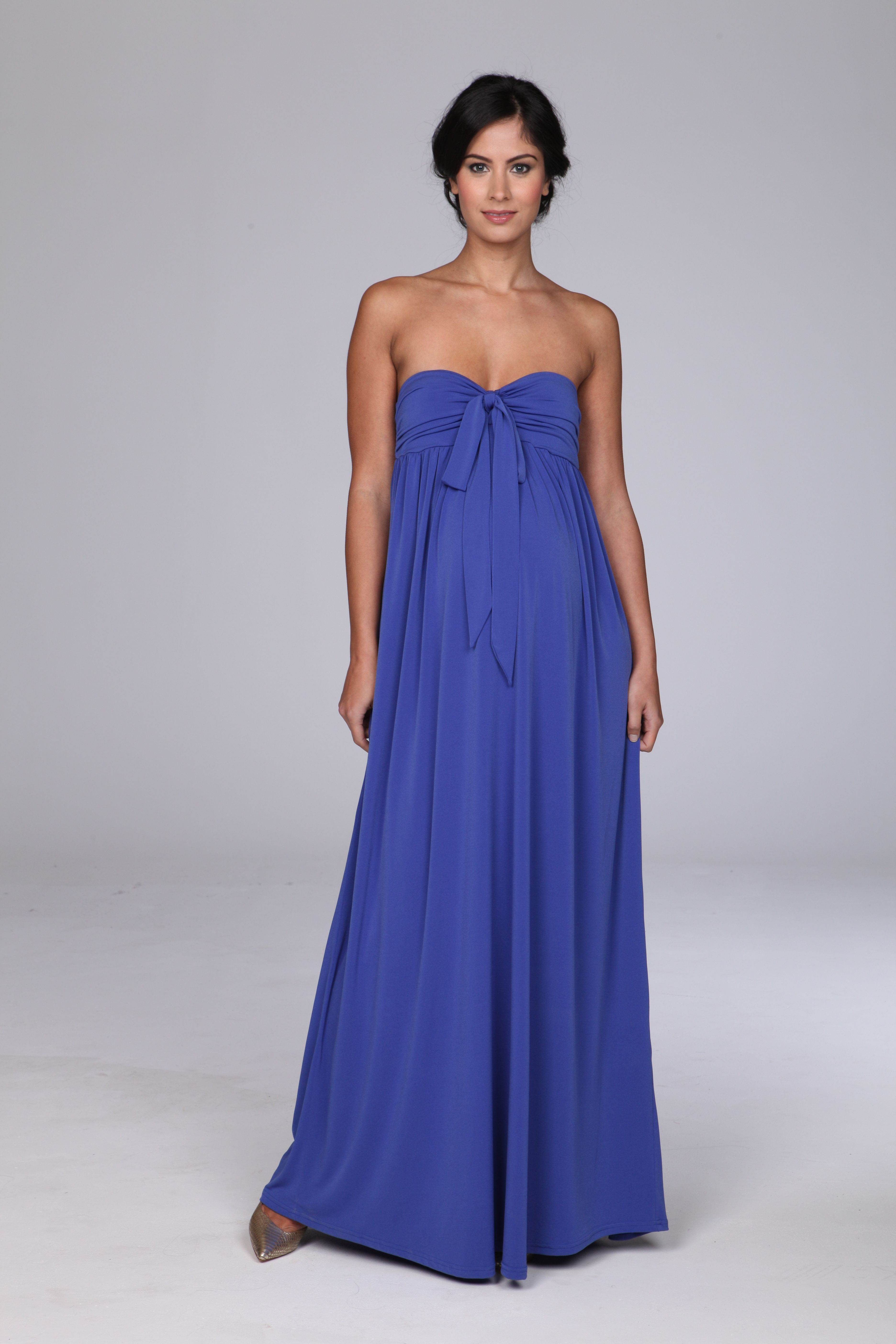 Beautiful blue strapless gathered maternity maxi dress bump it beautiful blue maxi maternity dress ideal for wedding or formal occasion wear shop broody maternity wear for elegant and stunning formal occasion wear ombrellifo Choice Image
