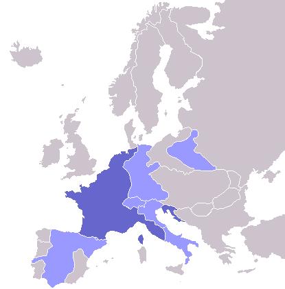 Napoleon I Wikipedia Map Ljusbla Europa