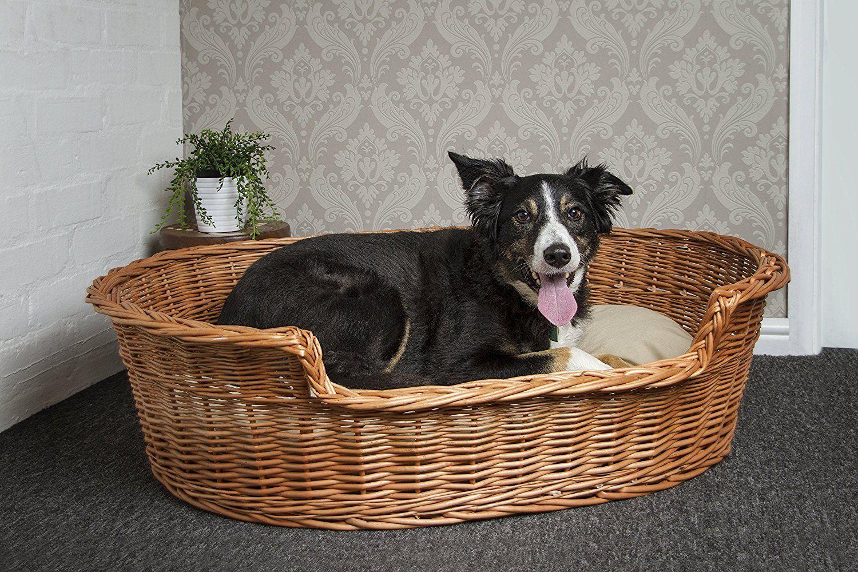 Prestige Wicker Dog Bed Basket, 85 cm, Large Basket dog