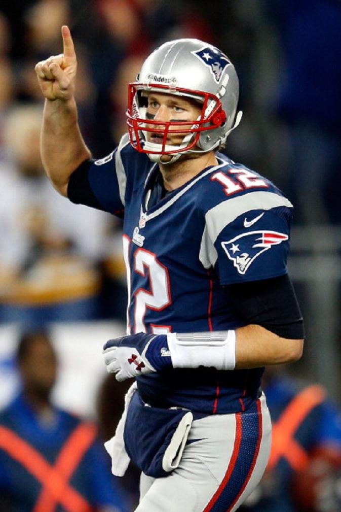 Tom Brady Of The New England Patriots Reacts After A Touchdown In The Tom Brady New England Patriots Patriots Football