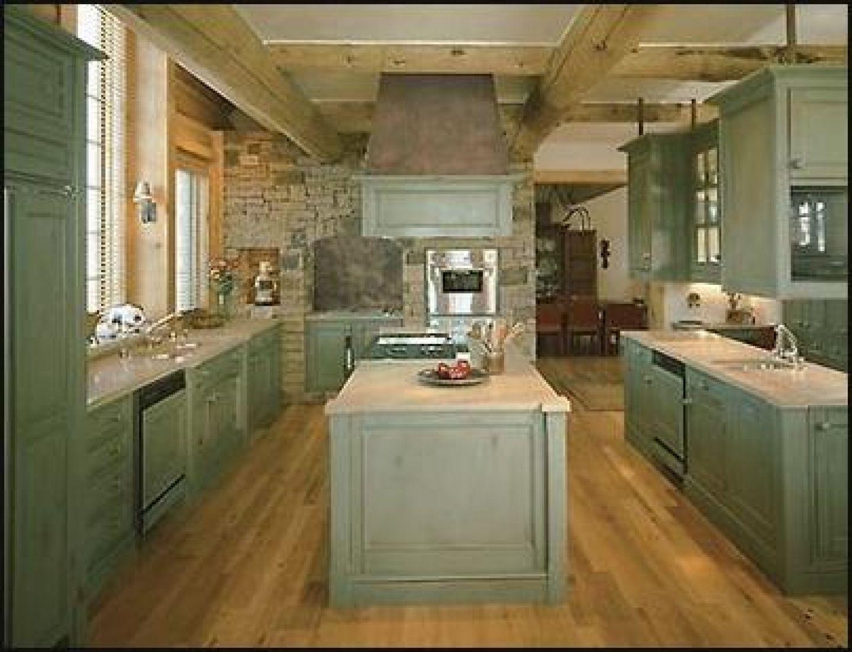 cabinet washed green inside the home interior design kitchen log cabin kitchens kitchen on kitchen interior green id=94874