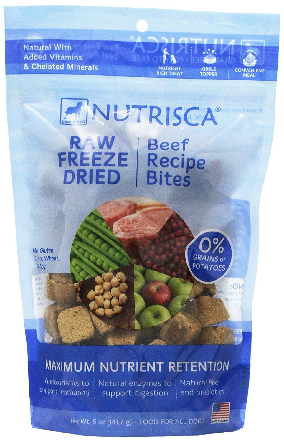Dogswell nutrisca freeze dried dinner bites beef 5ounce