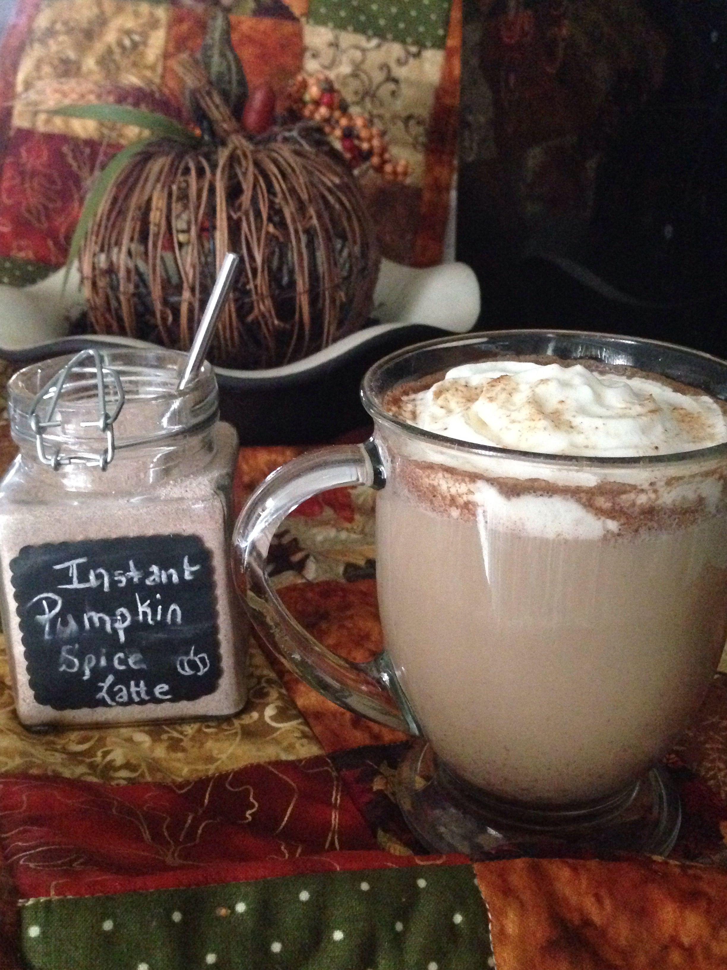 Instant pumpkin spice latte! 3c. Powdered milk 1/4c