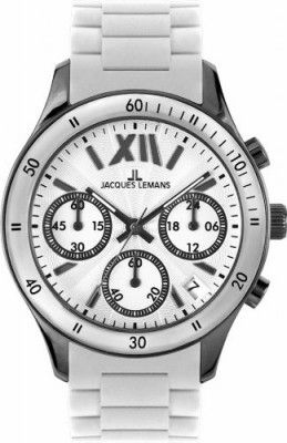 89f0920be329e Relógio Jacques Lemans Men s 1-1586P Rome Sports Sport Analog Chronograph  with Silicone Strap Watch  Relógio  Jacques Lemans