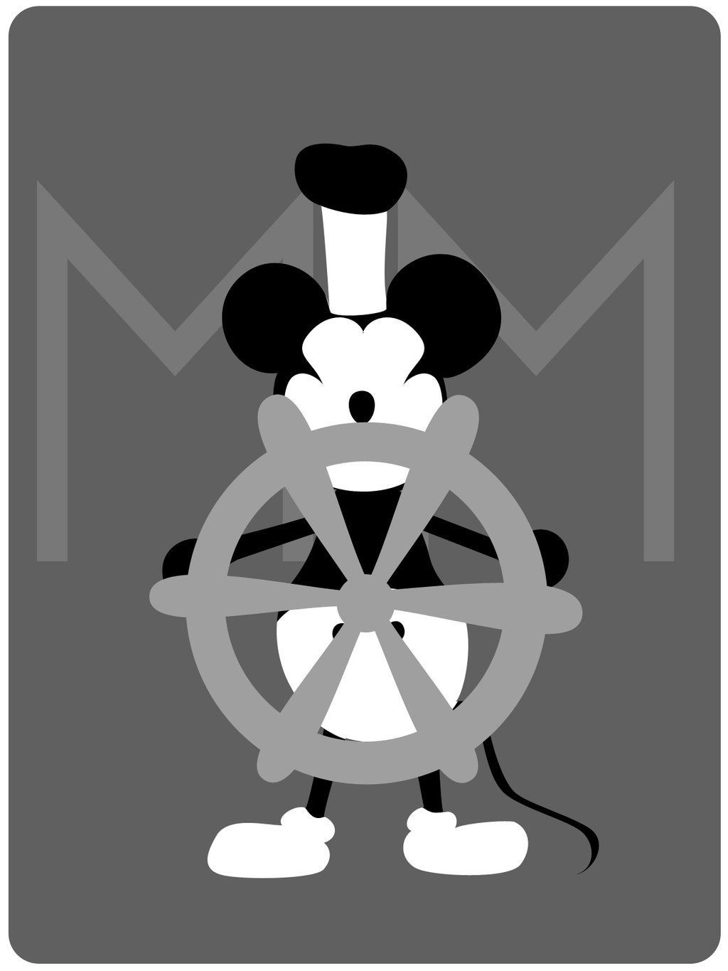 Mickey Mouse on steamboat  Willie