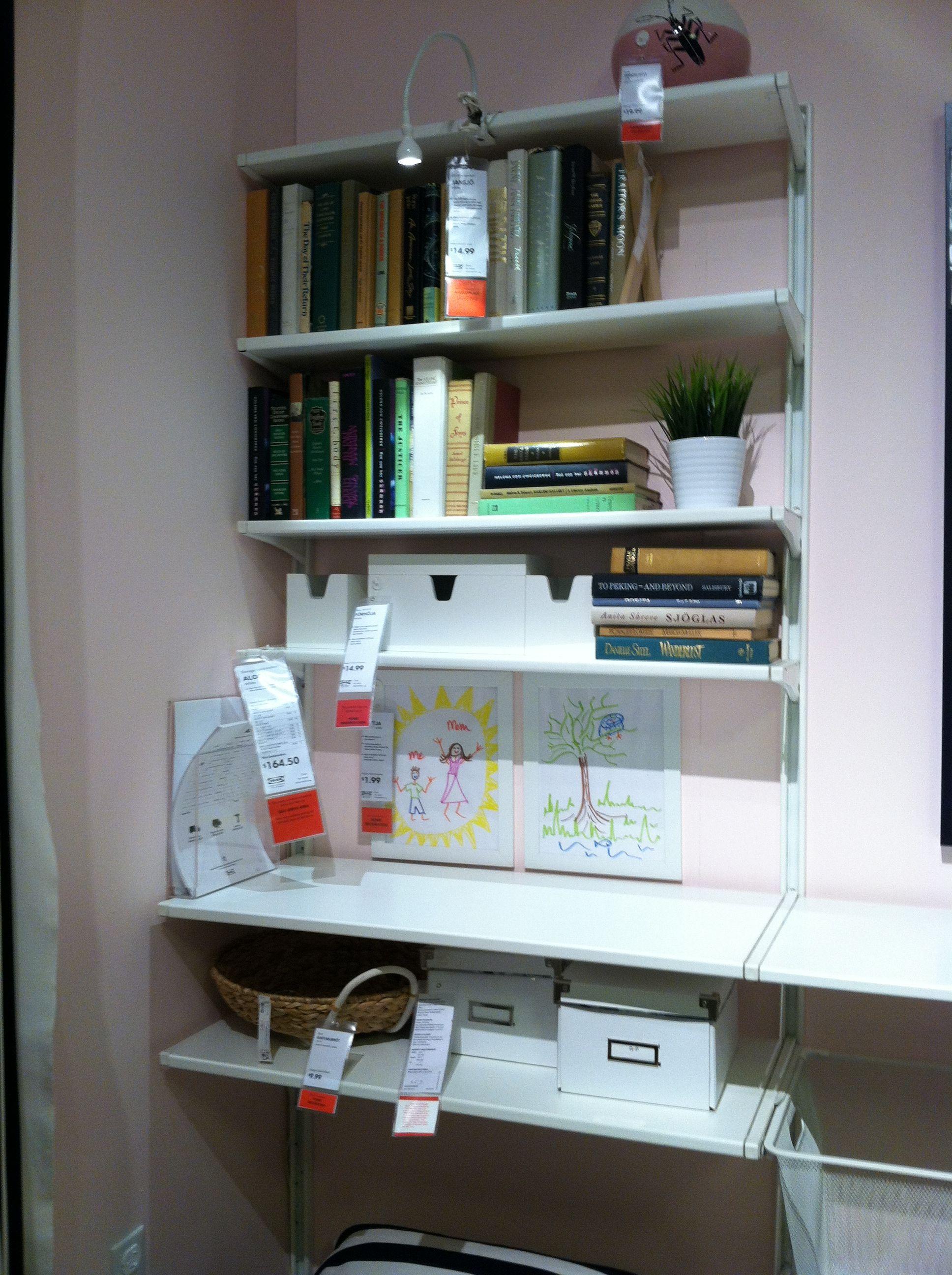 Ikea wall shelves ALGOT