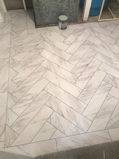 Trafficmaster Carrara Marble 12 In X 24 In Peel And Stick Vinyl Tile 20 Sq Ft Case Ss1212 The Hom Vinyl Tile Vinyl Tile Bathroom Peel And Stick Floor