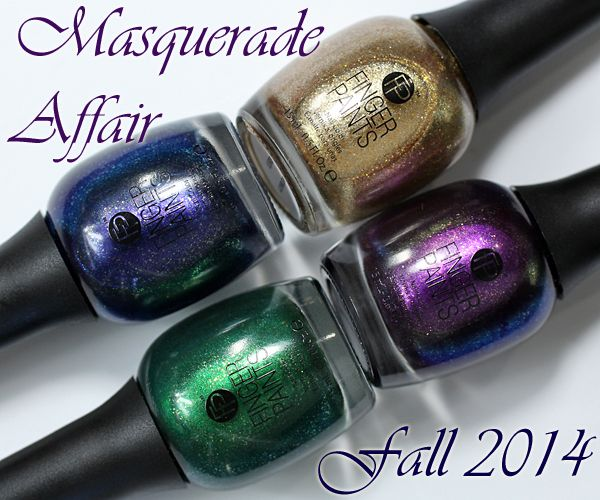 Fingerpaints Fall 2014 Masquerade Affair Swatches Amp Review Sassy Nails Nail Polish Bottles