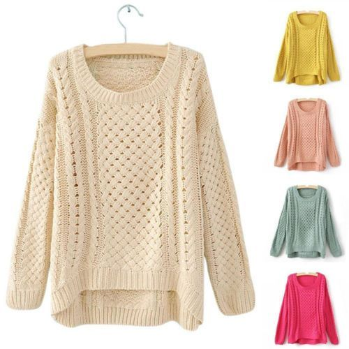 Womens Crimping Neck Long Sleeve Hollow Sweater